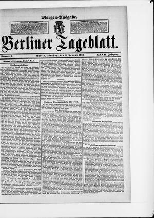 Berliner Tageblatt und Handels-Zeitung vom 06.01.1903
