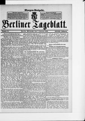 Berliner Tageblatt und Handels-Zeitung vom 07.01.1903