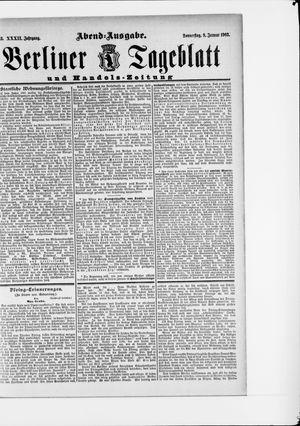 Berliner Tageblatt und Handels-Zeitung vom 08.01.1903