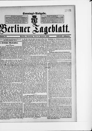 Berliner Tageblatt und Handels-Zeitung vom 11.01.1903