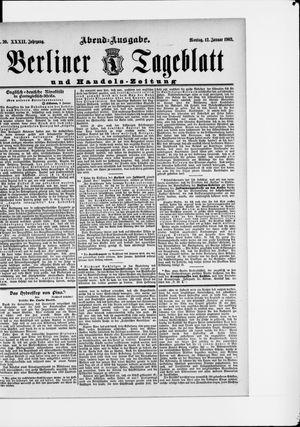 Berliner Tageblatt und Handels-Zeitung vom 12.01.1903