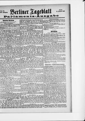 Berliner Tageblatt und Handels-Zeitung vom 14.01.1903