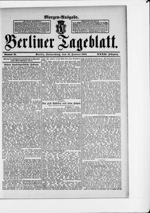 Berliner Tageblatt und Handels-Zeitung vom 15.01.1903
