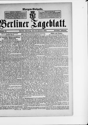 Berliner Tageblatt und Handels-Zeitung vom 16.01.1903