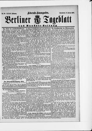 Berliner Tageblatt und Handels-Zeitung vom 17.01.1903