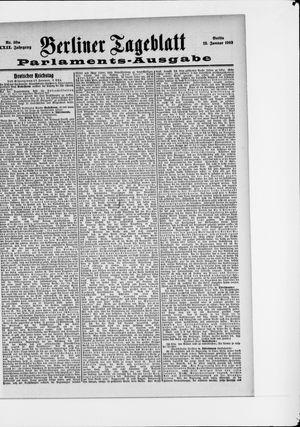 Berliner Tageblatt und Handels-Zeitung vom 18.01.1903
