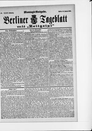 Berliner Tageblatt und Handels-Zeitung vom 19.01.1903