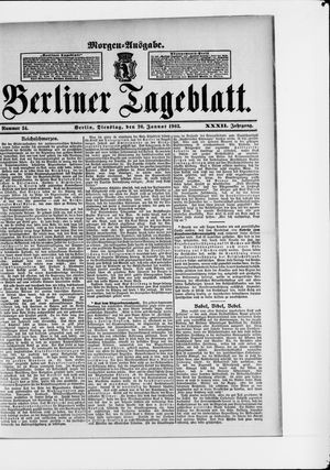 Berliner Tageblatt und Handels-Zeitung vom 20.01.1903