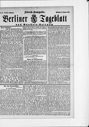 Berliner Tageblatt und Handels-Zeitung vom 21.01.1903