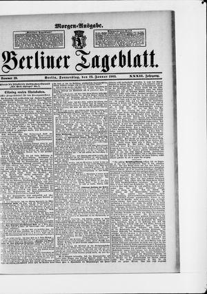 Berliner Tageblatt und Handels-Zeitung vom 22.01.1903