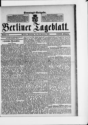 Berliner Tageblatt und Handels-Zeitung vom 25.01.1903