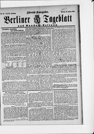 Berliner Tageblatt und Handels-Zeitung vom 26.01.1903