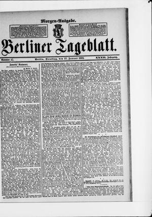 Berliner Tageblatt und Handels-Zeitung vom 27.01.1903