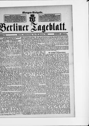 Berliner Tageblatt und Handels-Zeitung vom 29.01.1903
