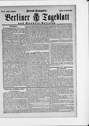 Berliner Tageblatt und Handels-Zeitung vom 30.01.1903