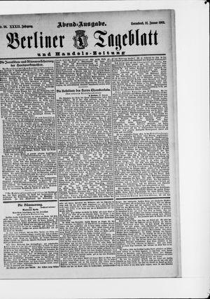 Berliner Tageblatt und Handels-Zeitung vom 31.01.1903