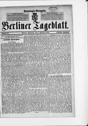 Berliner Tageblatt und Handels-Zeitung vom 01.02.1903