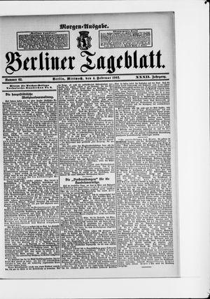 Berliner Tageblatt und Handels-Zeitung vom 04.02.1903