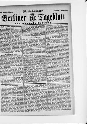 Berliner Tageblatt und Handels-Zeitung vom 07.02.1903