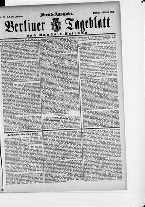 Berliner Tageblatt und Handels-Zeitung vom 09.02.1903