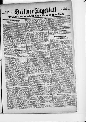 Berliner Tageblatt und Handels-Zeitung on Feb 10, 1903