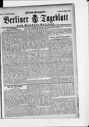 Berliner Tageblatt und Handels-Zeitung vom 13.02.1903