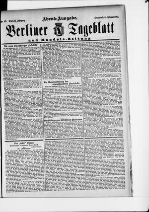 Berliner Tageblatt und Handels-Zeitung vom 14.02.1903