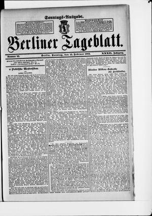 Berliner Tageblatt und Handels-Zeitung vom 15.02.1903