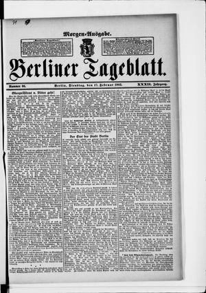 Berliner Tageblatt und Handels-Zeitung vom 17.02.1903