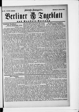 Berliner Tageblatt und Handels-Zeitung vom 18.02.1903
