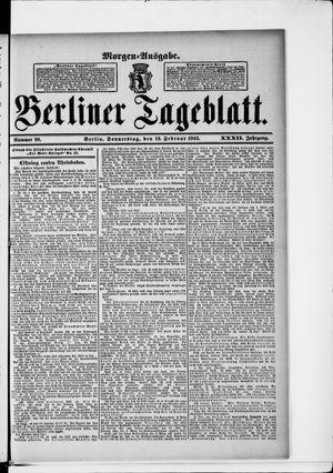 Berliner Tageblatt und Handels-Zeitung vom 19.02.1903