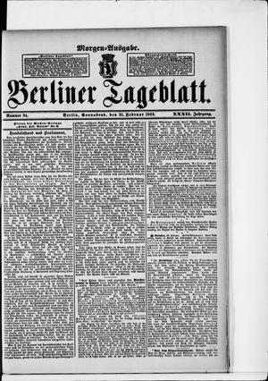 Berliner Tageblatt und Handels-Zeitung vom 21.02.1903
