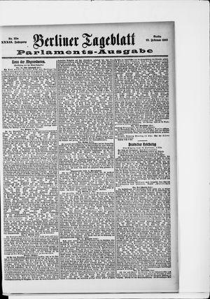 Berliner Tageblatt und Handels-Zeitung vom 22.02.1903