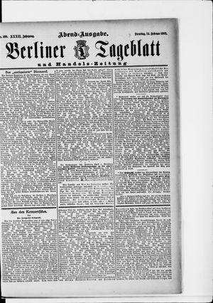 Berliner Tageblatt und Handels-Zeitung vom 24.02.1903