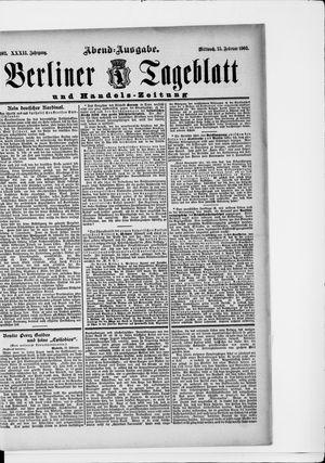 Berliner Tageblatt und Handels-Zeitung vom 25.02.1903