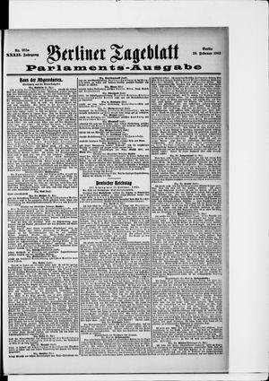 Berliner Tageblatt und Handels-Zeitung on Feb 26, 1903