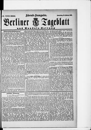 Berliner Tageblatt und Handels-Zeitung vom 26.02.1903