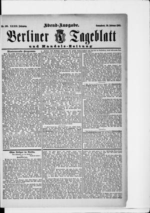 Berliner Tageblatt und Handels-Zeitung vom 28.02.1903