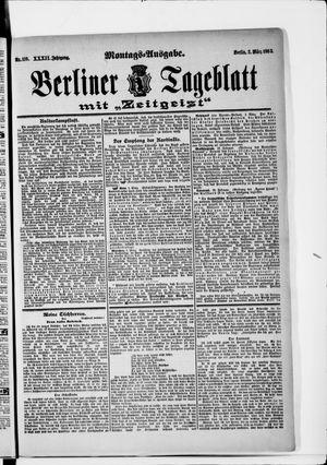 Berliner Tageblatt und Handels-Zeitung vom 02.03.1903