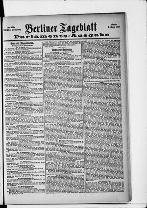 Berliner Tageblatt und Handels-Zeitung vom 05.03.1903