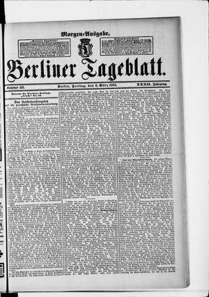 Berliner Tageblatt und Handels-Zeitung vom 06.03.1903