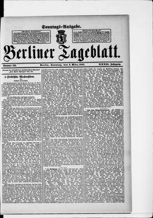 Berliner Tageblatt und Handels-Zeitung vom 08.03.1903