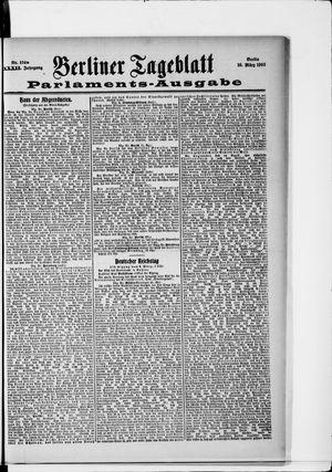 Berliner Tageblatt und Handels-Zeitung vom 10.03.1903