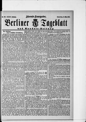 Berliner Tageblatt und Handels-Zeitung vom 12.03.1903