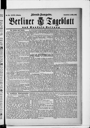 Berliner Tageblatt und Handels-Zeitung vom 14.03.1903