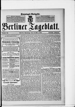 Berliner Tageblatt und Handels-Zeitung vom 15.03.1903