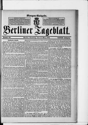 Berliner Tageblatt und Handels-Zeitung vom 17.03.1903