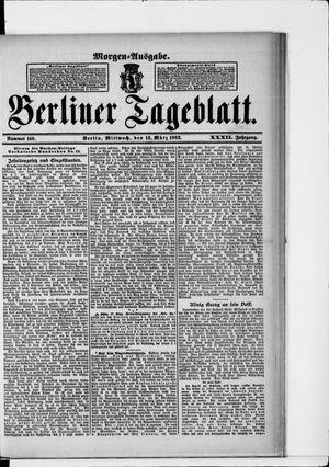 Berliner Tageblatt und Handels-Zeitung vom 18.03.1903