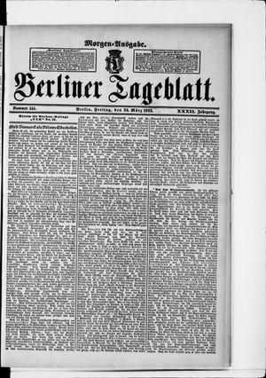 Berliner Tageblatt und Handels-Zeitung vom 20.03.1903