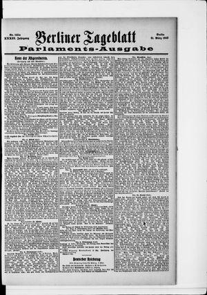 Berliner Tageblatt und Handels-Zeitung on Mar 21, 1903